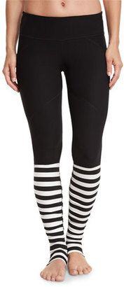 Vimmia Bumble Rhythm Striped Stirrup Leggings, Black/White