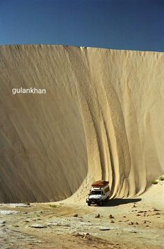 Car racing on desert