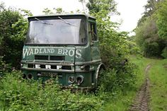 An abandoned Wadland Bros Lorry, Abandoned Train, Abandoned Cars, Abandoned Buildings, Abandoned Vehicles, Junkyard Cars, Vehicle Signage, Automobile, Truck Transport, Old Lorries