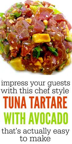 fish recipes healthy weightloss - Make Tuna Tartare Like An Adult Fresh Tuna Recipes, Avocado Recipes, Fish Recipes, Seafood Recipes, Asian Recipes, Cooking Recipes, Healthy Recipes, Freezer Recipes, Freezer Cooking