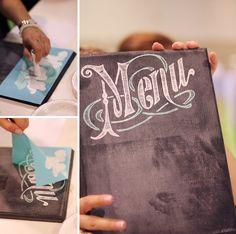 Martha Stewart new chalkboard screen stencils