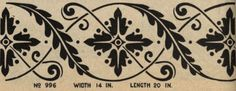 "Laurelhurst Craftsman Bungalow: Stencil design from ""Excelsior"" Fresco Stencil catalog from 1924."