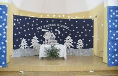 Stage Decorations, Christmas Decorations, Xmas, Tapestry, Candles, Winter, Crafts, Wedding, Board
