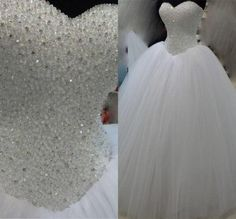2016 Luxury Crystals Ball Gown Wedding Dresses Sweetheart White Tulle Floor Length Bridal Gowns Lace Up Back Custom Made Vintage Wedding Dresses Luxury Wedding Dresses 2016 Wedding Dresses Online with $186.69/Piece on Find_my_dress's Store | DHgate.com