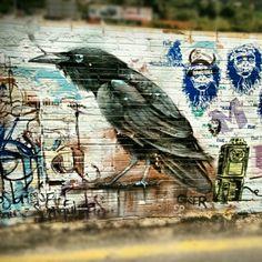 Dark wings, dark words. #streetart #graffiti