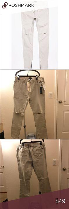 PacSun Drop Skinny Destroy Knee Khaki Jogger Pants NWT. Size XL. Khaki PacSun Pants Sweatpants & Joggers