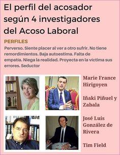 Mobbing Madrid PRIDICAM: El perfil del acosador  según 4 investigadores  de... Madrid, Self Esteem, Profile, Bullying