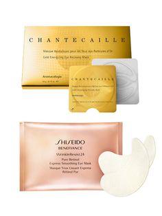 Major indulgences: Shiseido Benefiance Wrinkle Resist Pure Retinol Express Smoothing Eye Mask & Chantecaille Gold Energizing Eye Recovery Mask