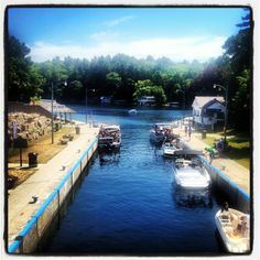 Port Carling. My home town in Muskoka,On.,Canada. Large tourist area.