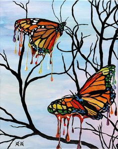 Melting Butterflies – Bramblitt. He's a blind painter BTW. AMAZING