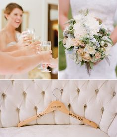 personalized wedding day dress hanger