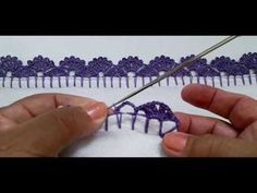 Crochet Edging Patterns, Crochet Lace Edging, Crochet Borders, Crochet Designs, Knit Crochet, Hand Embroidery Videos, Embroidery Stitches, Crochet Basics, Learn To Crochet