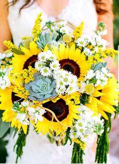 9 best sunflower bridal bouquets images blue weddings bridal rh pinterest com