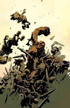 I'm sure a lot of Aspiring Students from Art Colleges the World Over, want A Piece of the Simplicity Implied and Generous Use of The Color Black NICHE! That Mike Mignola has carved out for Himself.
