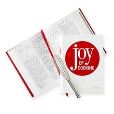 Leather-Bound Book, The Joy of Cooking, Red and White - Red/White - Home + Bar - Games + Books - Mark & Graham Cooking For A Group, Cooking For Two, Cooking Tofu, Cooking Broccoli, Cooking Bacon, Cooking Turkey, How To Cook Meatloaf, Beef Casserole Recipes, New Year's Food