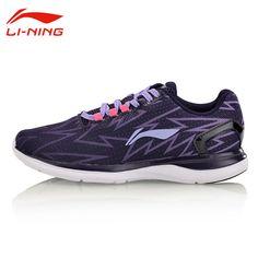 Li-Ning Women's Light Cushioning Running Shoes Breathable Textile Comfort Sneakers LiNing Original Sports Shoes ARBM012