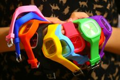 Oversized Colorful Jelly Candy Sports Quartz RUBBER Wrist Watch