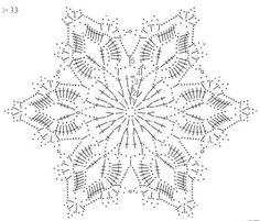 Tina's handicraft : 27 patterns for crochet motif Crochet Snowflake Pattern, Crochet Stars, Crochet Snowflakes, Crochet Doily Patterns, Crochet Mandala, Crochet Diagram, Filet Crochet, Crochet Doilies, Crochet Flowers