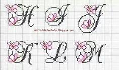 Alfabeto farfalle h-m maiuscolo