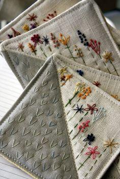 fibrearts: (vía Coaster tela de materia textil bordado a mano ¿Cómo funciona su por Waterrose)
