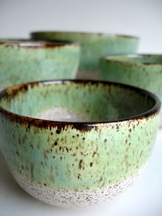 Handmade Wheel Thrown Stoneware Nested Bowls Set by NewMoonStudio