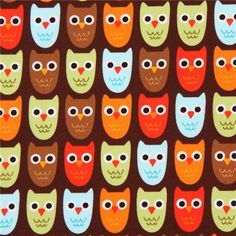 http://www.kawaiifabric.com/en/p9290-dark-brown-Robert-Kaufman-fabric-cute-colorful-owl-bird.html