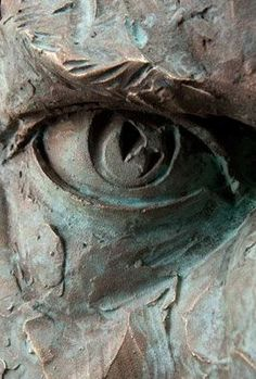 Close up of a sculpted eye by Matteo Pugliese