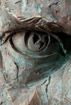 Close up of a sculpted eye by Matteo Pugliese