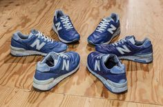 BUAISOU Dyeing New Balance.  #sneakers #shoes #footwear #indigo #menswear #fashion #mode #style