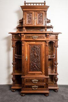 details zu antik buffet schrank eiche massiv historimus. Black Bedroom Furniture Sets. Home Design Ideas