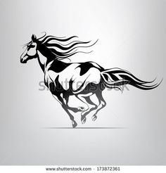 stock-vector-vector-silhouette-of-a-running-horse-173872361.jpg (450×470)