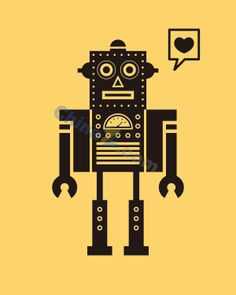 Square robots vector material