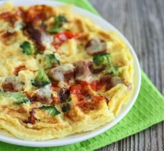 Omelette Waffle | Kirbie's Cravings | A San Diego food blog