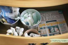 Craftivity Designs: Nightstand Organization for a Guest Bedroom Bedroom Organization Diy, Organization Hacks, Organizing Drawers, Organization Ideas, Guest Bathrooms, Bathroom Ideas, Weekend House, Guest Room Office, Creative Storage