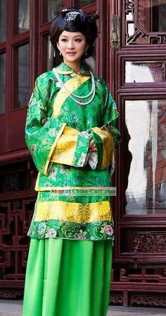 cinese folk costumes   Traditional Chinese Mandarin costumes
