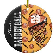 #Personalize Gold #Basketball #Ornaments #Christmas #zazzlebesties #zazzle #gifts
