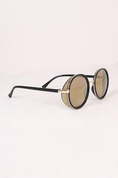 ebeddec6508 Round Mirrored Glitter Sunglasses