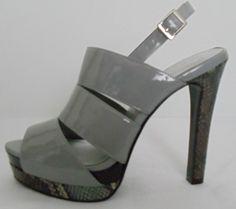 JESSICA SIMPSON Gray Heels Size 7 #JessicaSimpson #Strappy