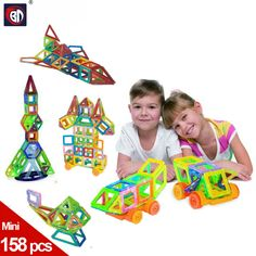 BD Mini 158pcs Magnetic Construction Models Building Blocks Toys DIY 3D Magnetic Designer Learning Educational Bricks Kids Toys #Affiliate