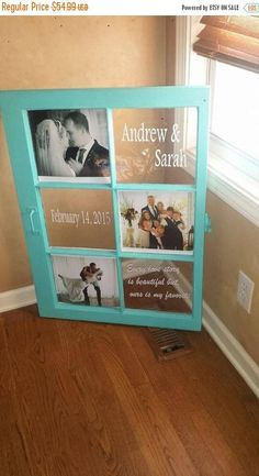 Wedding Gifts Diy ON SALE Rustic picture window - wedding window - window for wedding - picture frame window - persona - Wedding Picture Frames, Wedding Pictures, Engagement Pictures, Wedding Window, Rustic Pictures, Diy Casa, Window Art, Window Picture, Window Pane Pictures