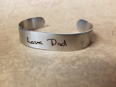 Engraved handwriting bracelets make for extra meaningful gifts that your family and friends will love to wear to show off and cherish their custom engravings.