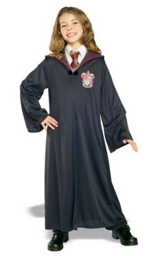 Kids Witch Wizard Gryffindor Potter Black Robe Cape Hogwarts Glasses Wand WBD