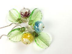 Vineyard Petal Blossoms - betty hanssen Lampwork Beads, Blossoms, Vineyard, Vintage Jewelry, Pearl Earrings, Pearls, Diy, Do It Yourself, Flowers