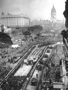 Eva Peron's funeral in Buenos Aires in 1952