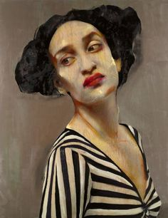 untitled painting by Lita Cabellut (b. 1961), Spanish lives in the Netherlands (meeresstille)