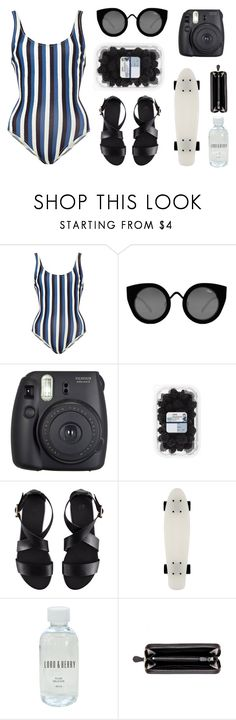 """""""Thinking about summer"""" by baludna ❤ liked on Polyvore featuring Solid & Striped, Quay, Fuji, H&M, Lord & Berry and Bottega Veneta"""