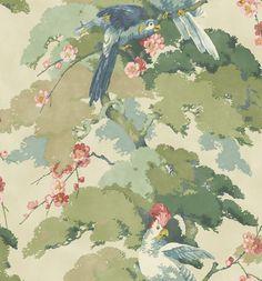 Jungle Jive Blossom wallpaper by Linwood