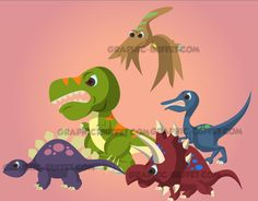 Angry Animated Dinosaurs: Multi Pack | 2D Game Assets Graphic Buffet