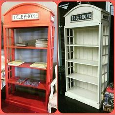 Telephone bookshelf