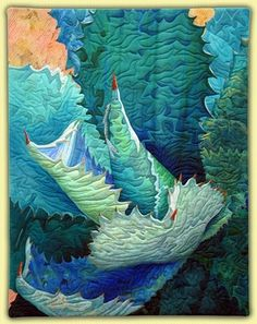 Art Quilt by Annette Kennedy, via indulgy